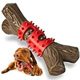 Tough Dog Toys Aggressive Chew Toys for Large Dogs, RANTOJOY Durable Dog Chew Toys for Medium Large Breed, Nylon Rubber Dog Teething Stick Toys Puppy Chewers Dogs Birthday Gift Nearly Indestructible