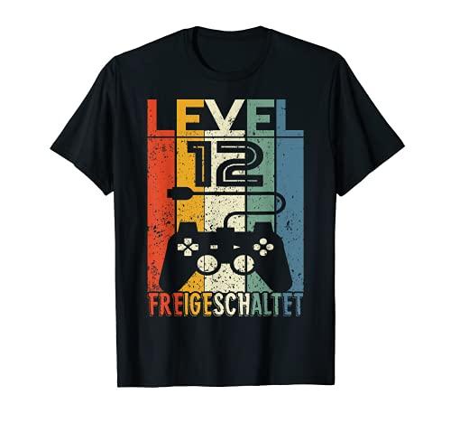 12 Geburtstag Geschenk - Level 12 unlocked Shirt Video Gamer