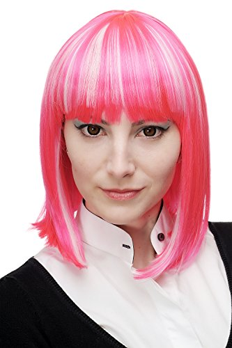 WIG ME UP - Perruque dame cosplay carré cleopâtre rose clair/platine mèches H7862-TT-2315-1001