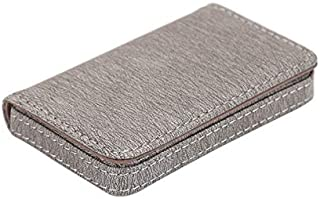 TT WARE PU Leather Card Holder Credit Card Case Portable ID Card Storage Box Men Women-Grey