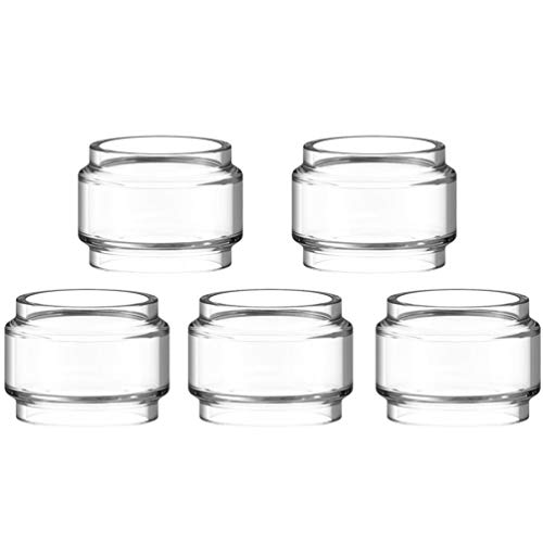 Furuipeng 5X Spare Bulb Pyrex Glass Tube Pieces for TFV12 Prince Tank Clear Bubble Glass (Prince)