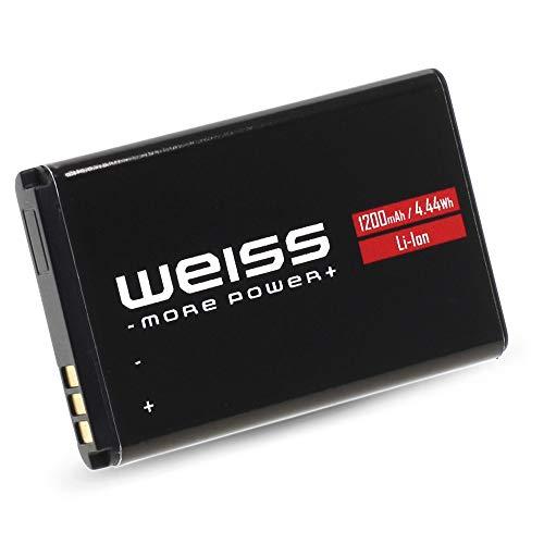 Weiss Akku für Fritz!Fon C6 1200mAh [20% mehr Kapazität als der Originale AVM A051 Fritzfon C6 Akku] Li-Ion