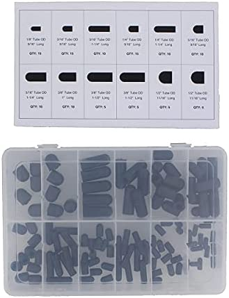 Clipsandfasteners Inc 121 Piece Rubber Vacuum Cap Quik-Select Kit Assortment