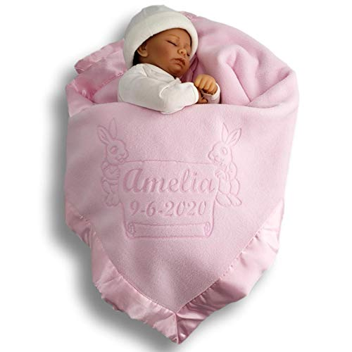 Bunny Security Blanket Personalize Baby Shower Gift baby shower gift Baby Crib Blanket newborn gift Personalize Baby Bunny Blanket