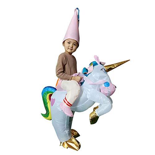 LJLis Disfraz Inflable Disfraz Inflable De Unicornio para Niños Traje De Animales para Fiesta Carnaval Juguetes De Dragón Hinchable Vestido De Fantasía