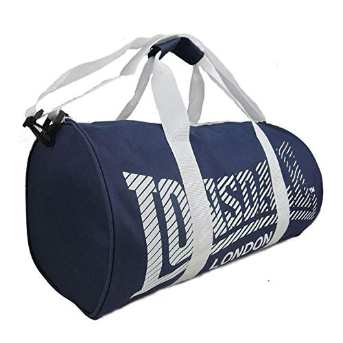 [UK-Import]Lonsdale Barrel Bag Navy & White