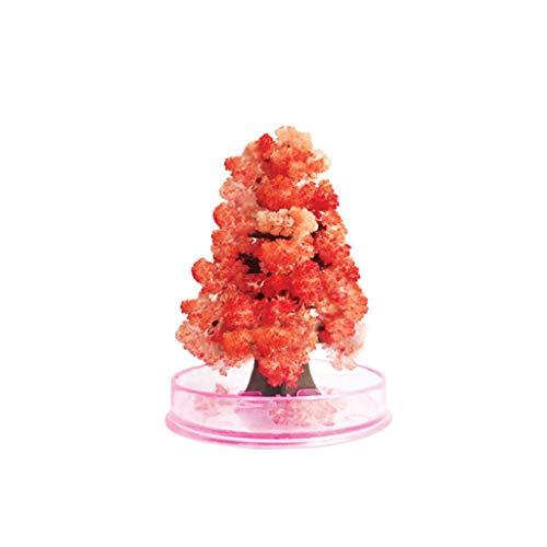 HWTOP Mini Stil Weihnachtsbaum Papierbaumblüte Kreatives Papier Baum Magie Wachsender Baum Spielzeug Jungen Mädchen Neuheit Weihnachten 10ml, Rot(10ML)