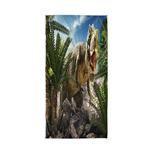 NBHBVGFC Toalla de baño suave con diseño de dinosaurios, selva y bosque, Lanscape Nature