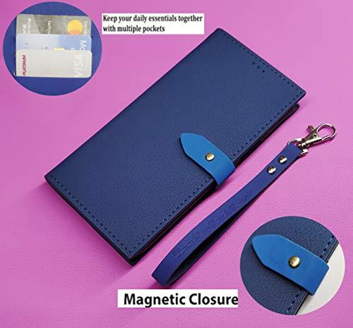 DDPTEK Flip Cover for Vivo Y17/Vivo Y15/Vivo Y12/Vivo U10(Faux Leather/Blue)