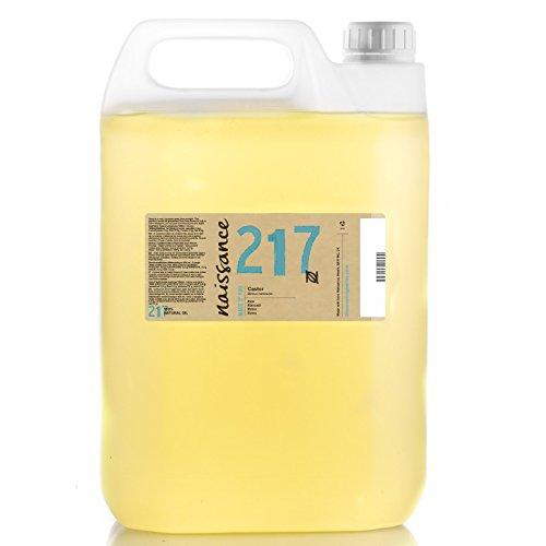 Naissance kaltgepresstes Rizinusöl (Nr. 217) 5 Liter (5000ml) - reines, natürliches, veganes, hexanfreies, gentechnikfreies Öl - pflegt und spendet Feuchtigkeit für Haare, Wimpern und Augenbrauen