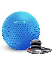 Mirumb Exercise Ball, Anti-Burst and Slip Resistant Exercise Ball for Fitness, Stability, Balance and Yoga Ball with Quick Pump