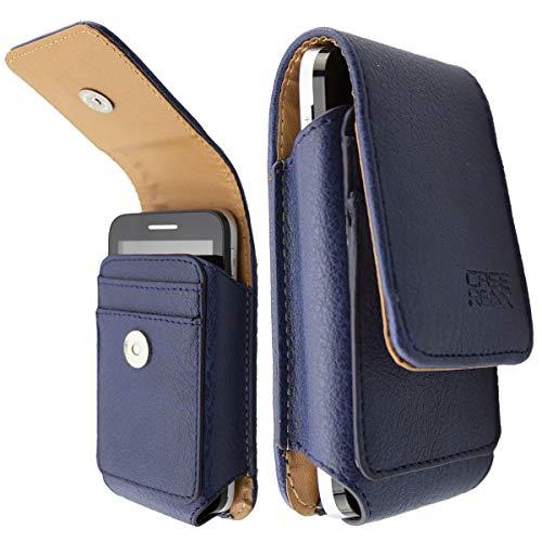 caseroxx Ledertasche mit Gürtelschlaufe für Dexcom G6 Receiver, Tasche (Ledertasche mit Gürtelschlaufe in blau)