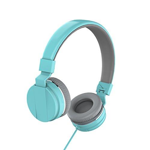 On Ear Headphones, Marvotek Stereo Headphones for Girls Wired Headphones with Mic Foldable Headphones Lightweight Headphones for Kids