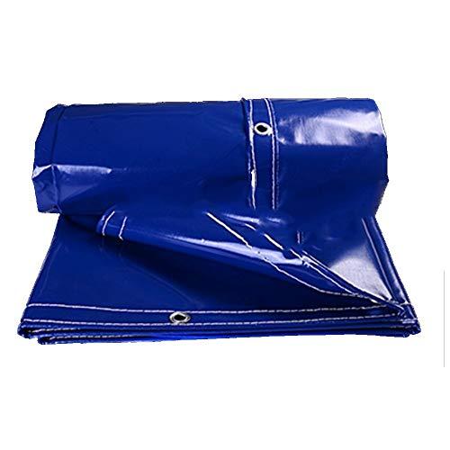 Hochleistungs-LKW-wasserdichte Plane Verschleißfestigkeit verblasst Nicht -05 mm-500 g m2 (Farbe: Blau Größe: 4 * 9 m)