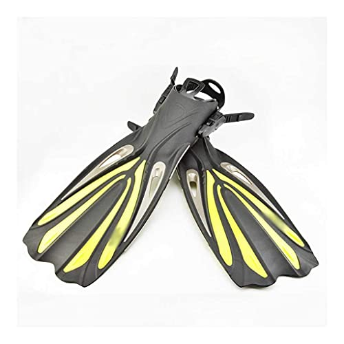 Sgxiyue Keep Diving Heel Scuba Diving Long Fins Adjustable Snorkeling Swim Flippers Special for Diving Boots Shoes Gear (Color : Yellow, Size : Large-XL)