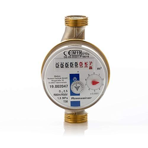 1270061B3 Wohnungs-Wasserzähler Aufputz für Kaltwasser, Q3 2,5m³, Baulänge 110 mm