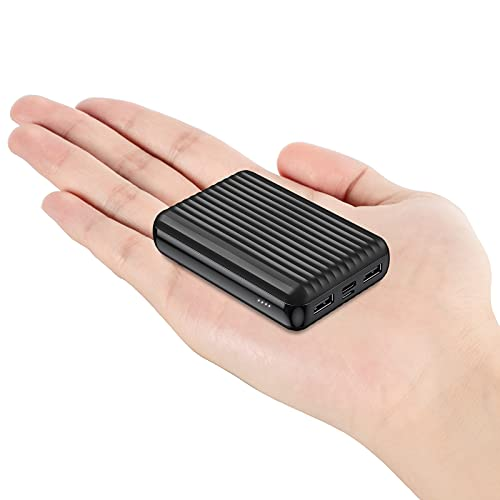 ockered Powerbank 10000mAh, Caricatore Portatile con 2 Uscite (2.4A+1A) e 2 Ingressi (USB-C + Micro) Compatibile con Tutti i Telefoni e Tablet