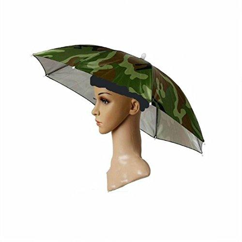 J&X Outdoor faltbaren Sonnenschirm Hut Golf Angeln Camping Kopfbedeckung Gap Kopf Hut (1pcs).