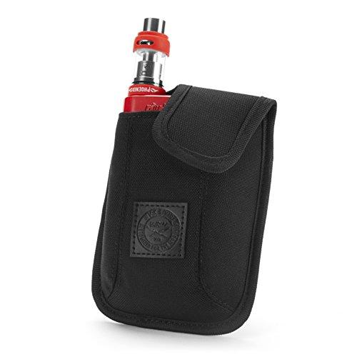 Vape-Tasche für Reisen - Sicher, Geordnet, Premium Vape-Etui - Passend für groß mechanischen Box Mods, Liquids, Batterie, Tank-Halter & Zubehör - Wick and Wire (El Cajon Schwarz)