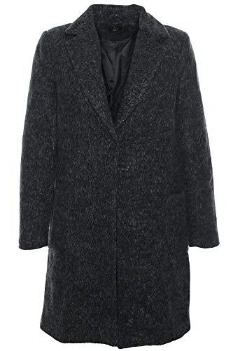 ONLY Damen Kurzmantel Long Blazer Übergangsmantel Damenjacke (38 (Herstellergröße: M), Black/Melange)