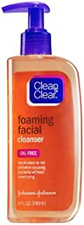 Clean & Clear ESSENTIALS Foaming Facial Cleanser, 8 Ounce (Pack of 2)