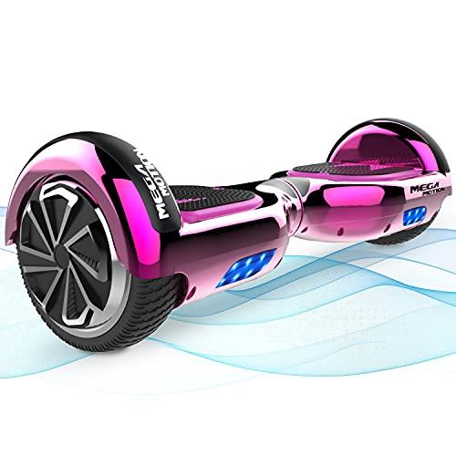 Mega Motion Hoverboards, Hoverboards para niños, aerotabla de Hoverboards autoequilibrante de 6.5 Pulgadas,con Altavoz Bluetooth, Adecuado para Regalos Infantiles Hoverboards go Kart