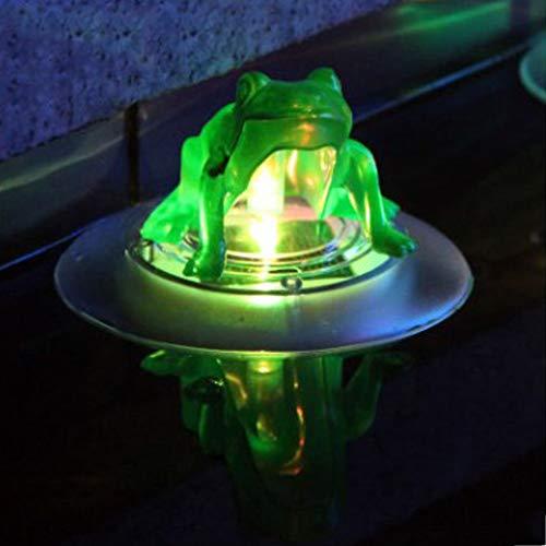 Schwimmende Licht Nacht Lampe Solar Teich Dekoration Automatische Umweltfreundliche Transparente Wasserdichte RGB Swimmingpool Im Freien Ohne Batterie Partei Matt Kunststoff Farbverlauf UV(Frosch)