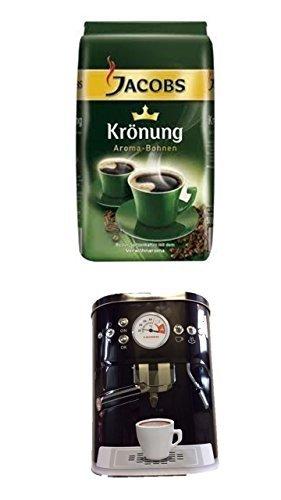 Jacobs Krönung Bohne 500g 1er Pack + Kaffeedose neu 3 D Design schwarz