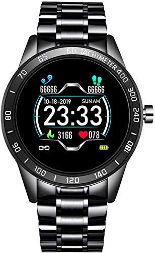 Reloj inteligente de moda para hombre, pantalla LED, monitor de ritmo cardíaco, presión arterial, monitor de actividad física, reloj deportivo impermeable (color: C)-B