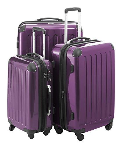 Hauptstandtkoffer Set di valigie, 75 cm, 235 L, Viola