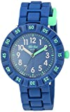 Flik Flak Kids' Color Blast Quartz Plastic Strap, Blue, 16 Casual Watch (Model: ZFCSP086)