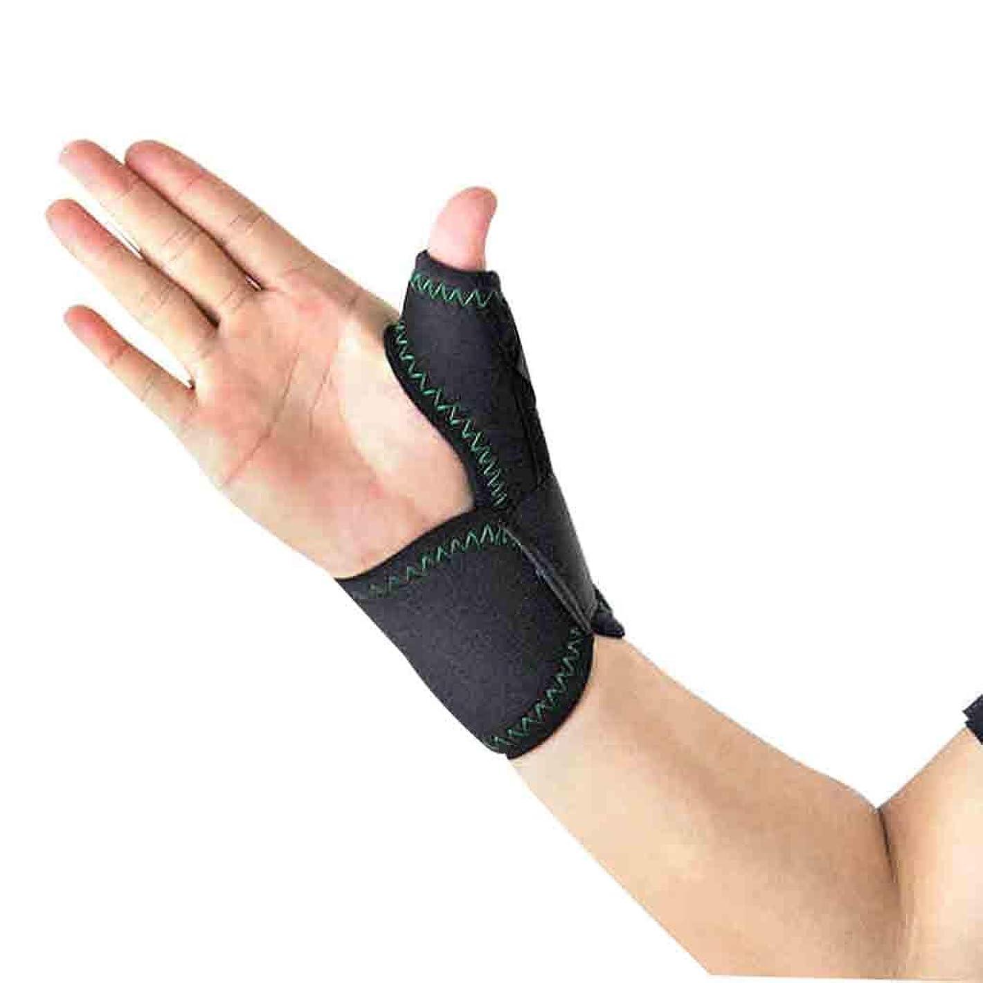 アンケート非行分析Thumbブレースは、手首のストラップでトリガーThumbガードのThumbのスプリントをラップします。ブレースThumbのスプリント、Thumbの関節炎の痛みを軽減するブレース(1個、ユニセックス、左&右手、M) Roscloud@