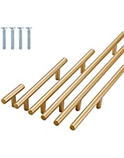 10 stuks meubelgrepen, ladegrepen, roestvrij staal, goudkleurig, kastgrepen, moderne aluminiumlegering, keukengrepen voor kastdeurgrepen