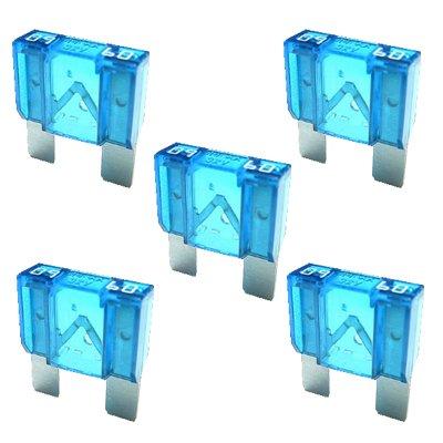 5 x Flachstecksicherung MAXI - Sicherung 60A / 32V / blau