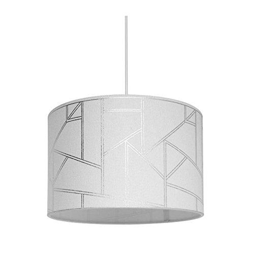 Lustre - suspension Harold motif irisé diametre 30 cm hauteur 20 cm E27 40W blanc