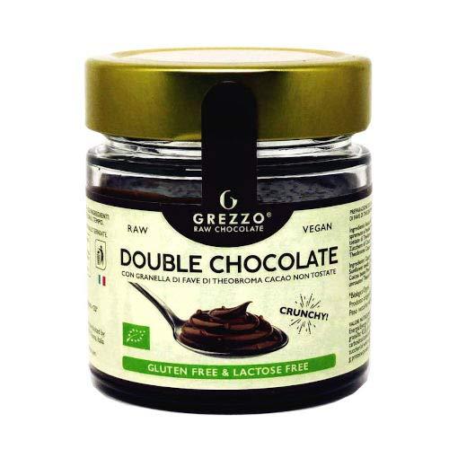 Crema Spalmabile Double Chocolate con granella di fave di cacao crudo vegana bio senza glutine o lattosio (180g)