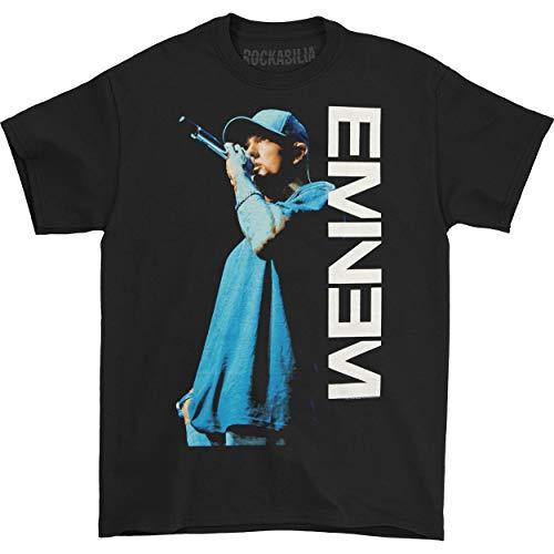 Eminem: On The Mic Shirt - Black - New! (Large)