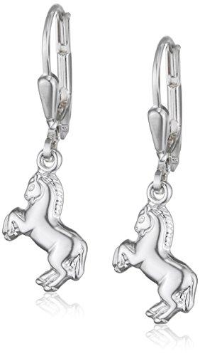 Teenie-Weenie Ohrringe für Kinder 925 Silber Ohrhänger Pferd glanz SDO583J