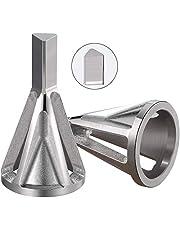 Herramienta de desbarbado para bisel exterior, 2 piezas, herramienta para quitar rebabas, accesorios de broca, herramienta para desbarbar el exterior del metal