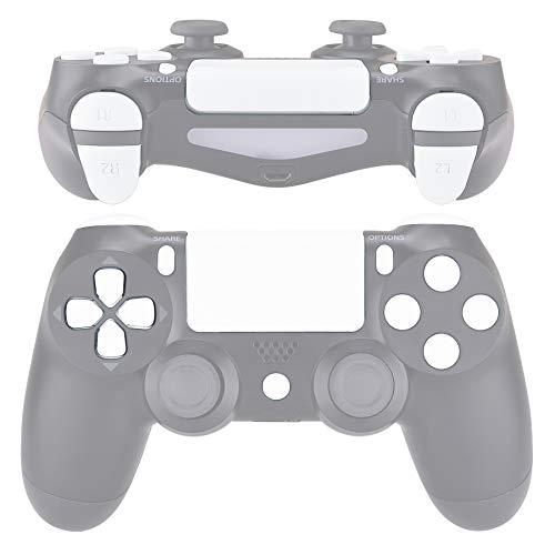 eXtremeRate biały zamiennik D-pad R1 L1 R2 L2 wyzwalacze panel dotykowy akcja dom opcje dzielenia przyciski, pełny zestaw przycisków zestawy naprawcze z narzędziem do PlayStation 4 PS4 Slim PS4 Pro CUH-ZCT2 kontroler gier