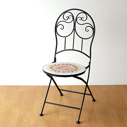 ガーデンチェア アイアン 折りたたみ おしゃれ 椅子 クラシック ヨーロピアン モザイクガーデンチェアー [sik1440]