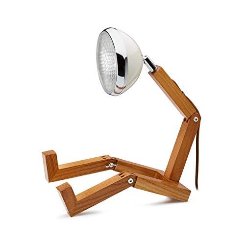Mr. Wattson LED Tischlampe Holz Metall weiß