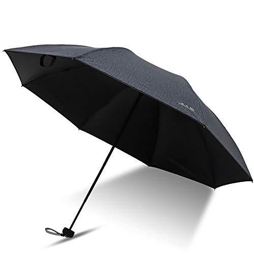 Big seller Regenschirme Sonnenschutzschirm-Taschenschirm für Männer und Frauen (Farbe : SCHWARZ)
