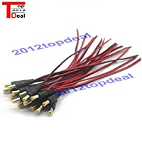 10pcs 5.5x2.1/5.5*2.1 mm Male plug 12V DC Power Pigtail cable jack for CCTV Security Camera connector