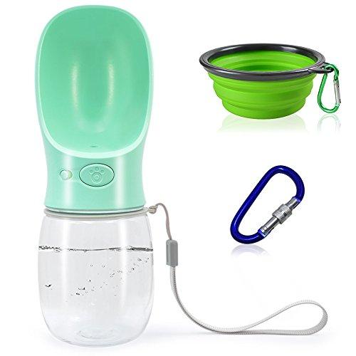 FineGood - Botella de Agua Plegable portátil para Perro, Cuenco Grande de 7 cm, a Prueba de Fugas, Botella de Viaje para Mascotas, pequeña, Gato, Cachorro, Senderismo al Aire Libre