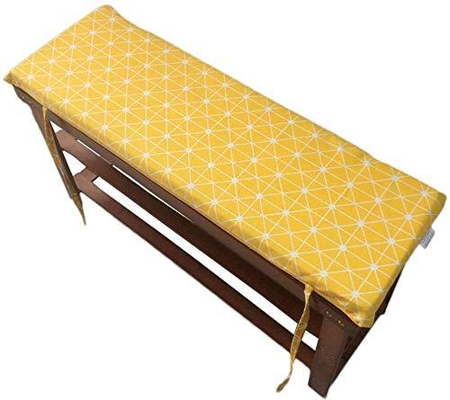 YINN Cojín para asiento de jardín con funda lavable, grueso y suave, para muebles de patio, 2 y 3 plazas, para banco de comedor, 150 x 35 x 4 cm