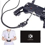CamKix Cordon et Support pour télécommande Compatible avec DJI Mavic Pro/Platinum/DJI Spark - Offre Plus de sécurité et Confort - Bandoulière réglable avec Bouton de déverrouillage Rapide