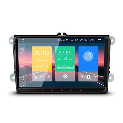9 'Android 10 Estéreo para automóvil Quad Core 2GB RAM 16GB ROM Radio para automóvil Navegación GPS Soporte Bluetooth 5.0 Plug and Play CarAutoPlay MirrorLink OBD2 DAB + WIFI DVR para VW Skoda Seat -