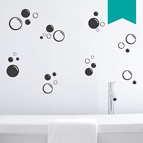 Wandkings Wandtattoo Seifenblasen im Set, 30 Stück Größe SMALL in türkis - erhältlich in 33 Farben
