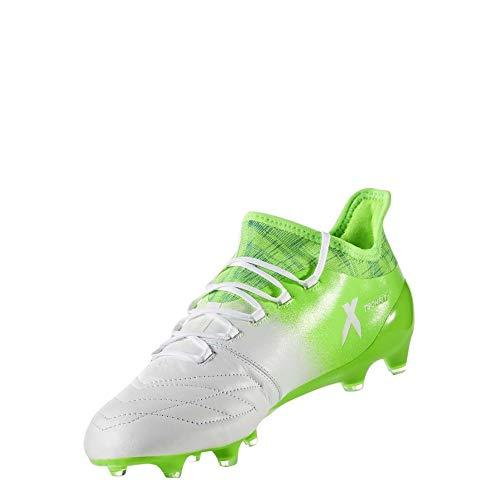 adidas X 16.1 Leather Fg - ftwwht/cblack/sgreen, Größe:7.5